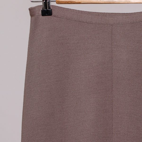 Ruta wool knit pencil skirt beige