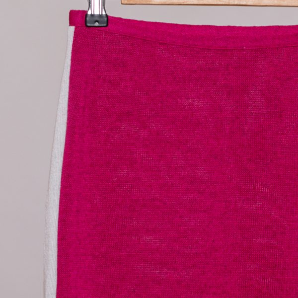 Jenna knit skirt fuxia with white stripes