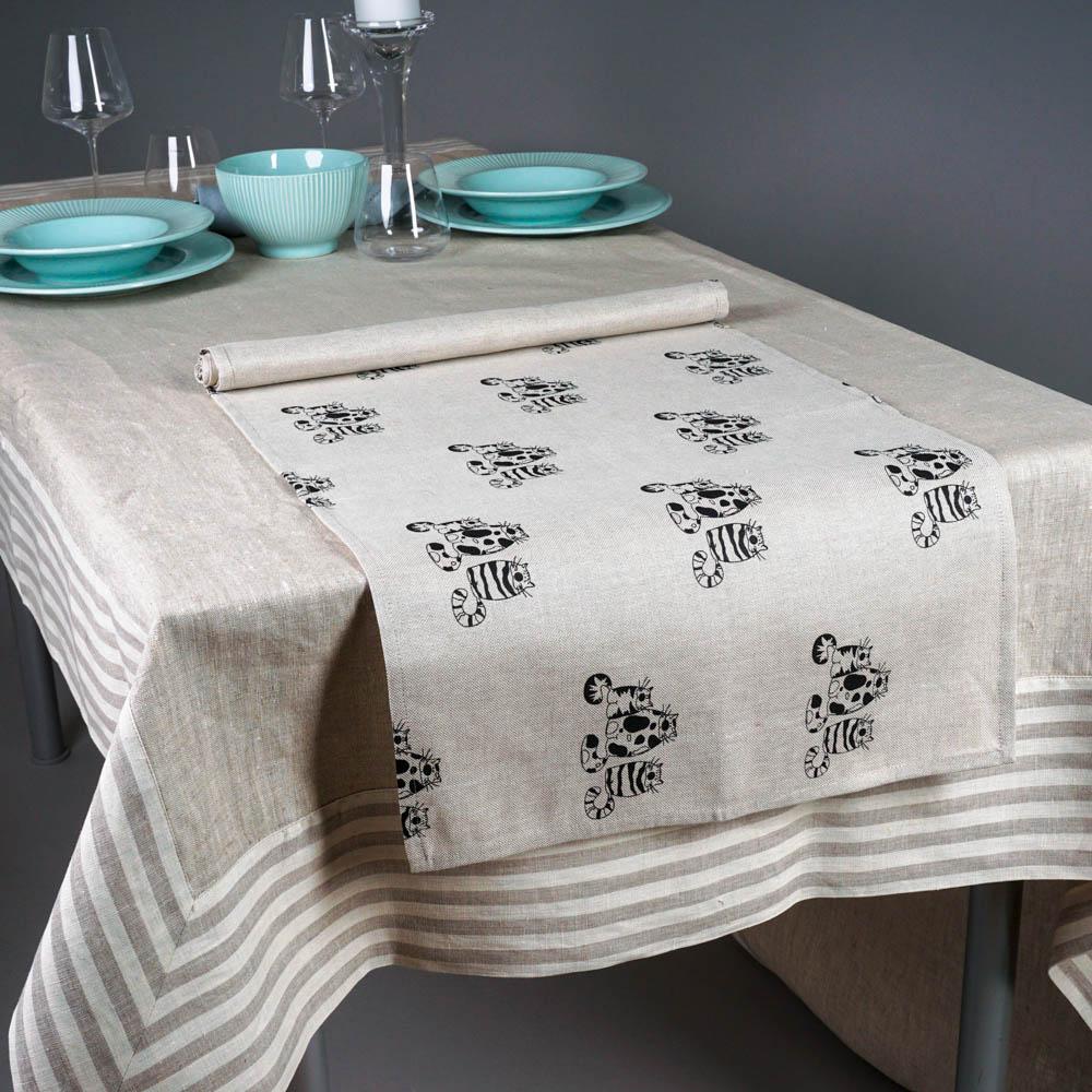 Three Cats Print Table Runner