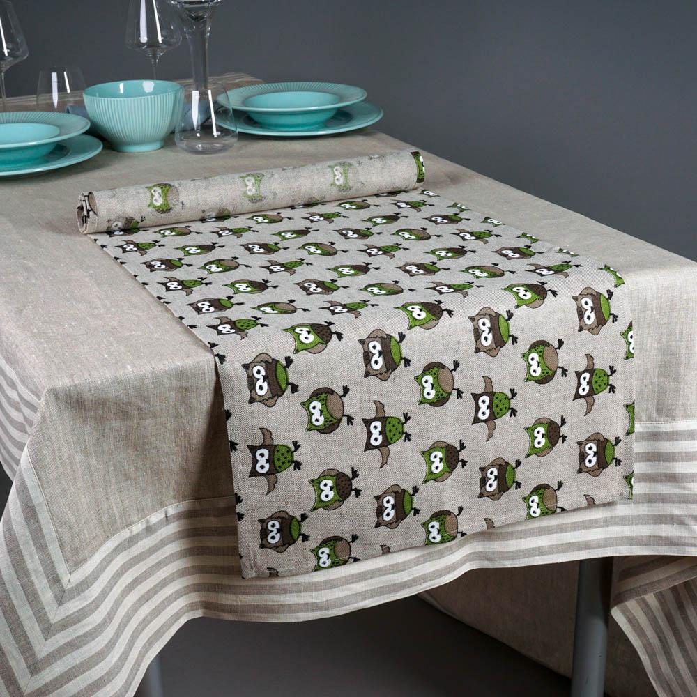 Owls Print Table Runner