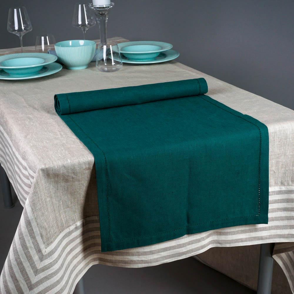 Pilutatud linane laudlinik roheline