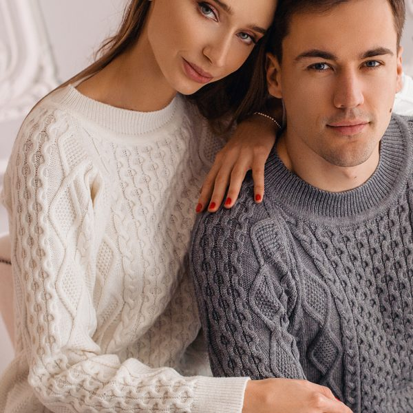 Mattis unisex wool cable knit sweater
