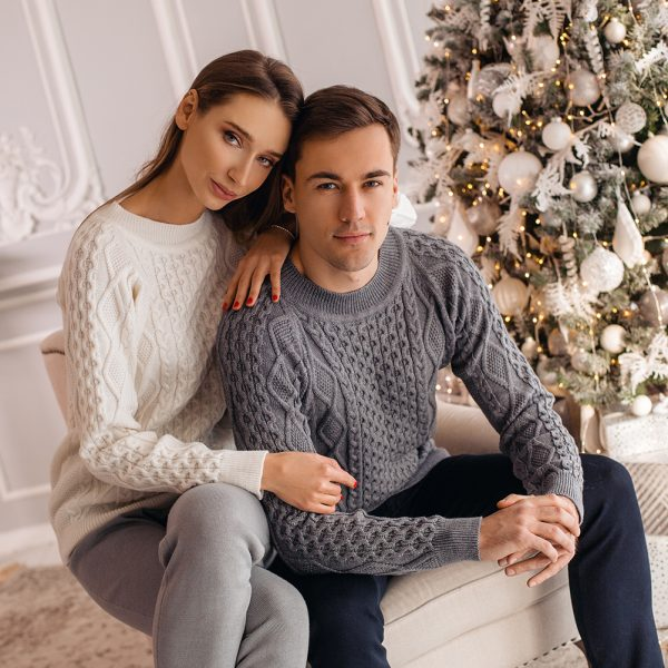 Unisex pure wool cable knit sweater