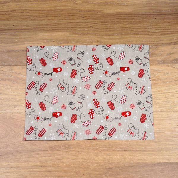 Christmas print linen placemat