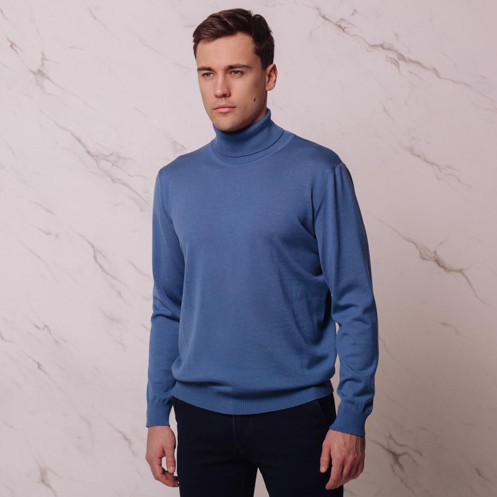 Ivan шерстяной джемпер с высоким воротником светло-синего цвета