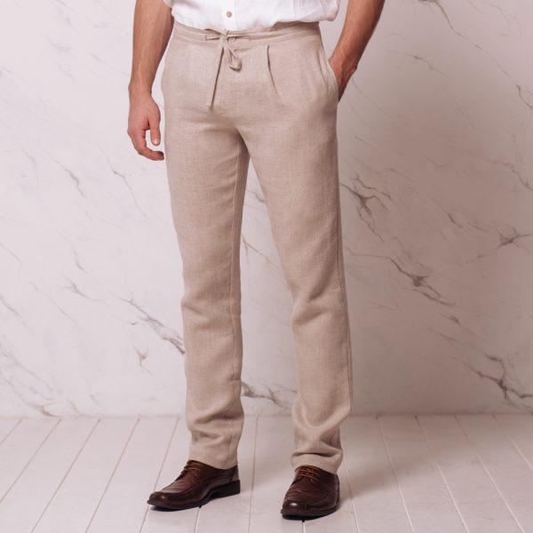 Recardo pure Linen trousers natural