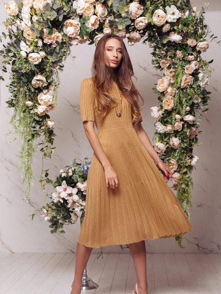 Fine knit linen viscose dress Kaisa