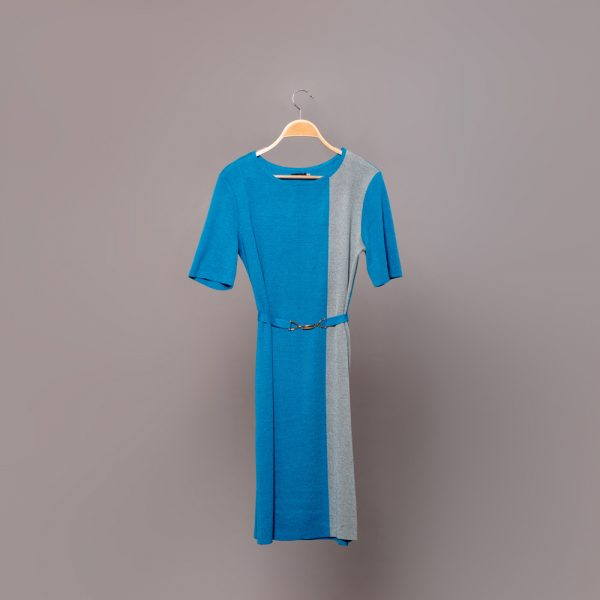 Filipa трикотажное платье с пояском цвета голубая лагуна