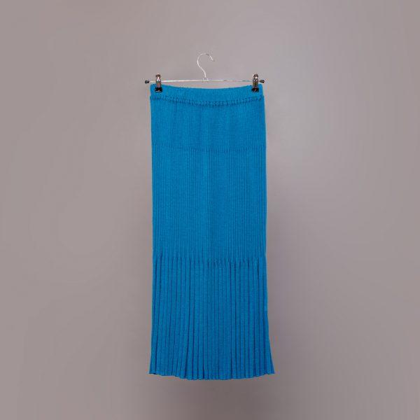 Meia textured knit skirt blue lagoon