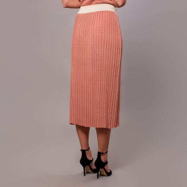 Linja long plisse skirt flamingo