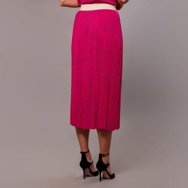 Linja long plisse skirt fuxia