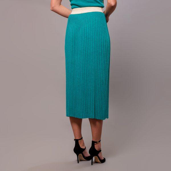 Linja long plisse skirt turquoise