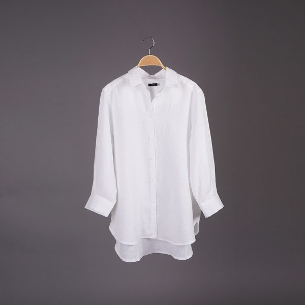 Dominica рубашка из льна с длинными рукавами свободного кроя