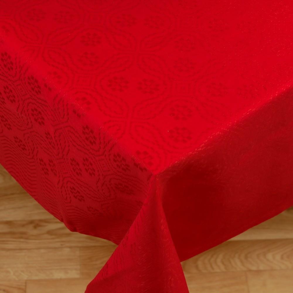 Cinderella red linen tablecloth