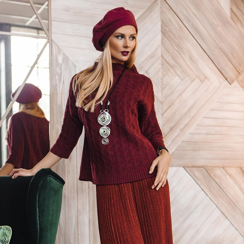 Xana wool burgundy pullover