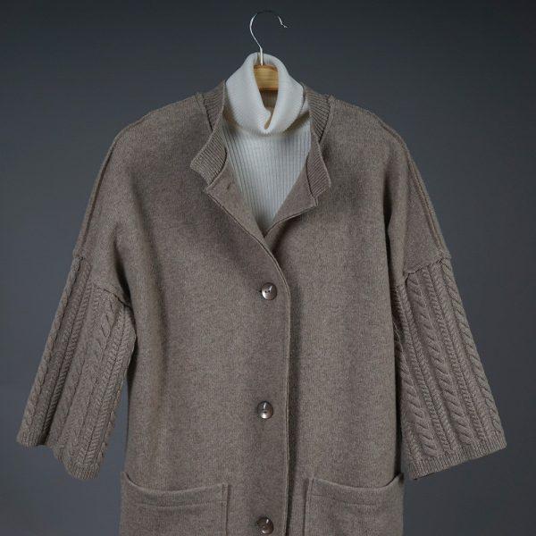 Adelina wool beige coat