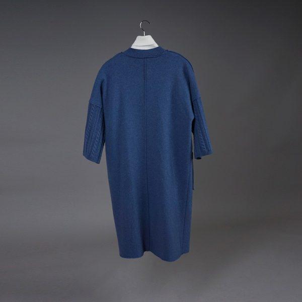 Adelina wool blue coat