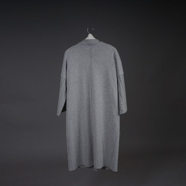 Adelina wool light gray coat