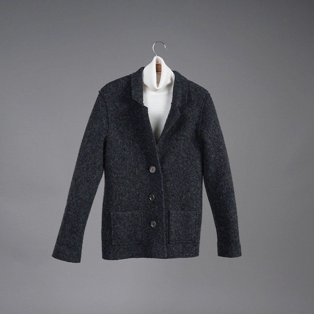 Polina pure wool black jacket