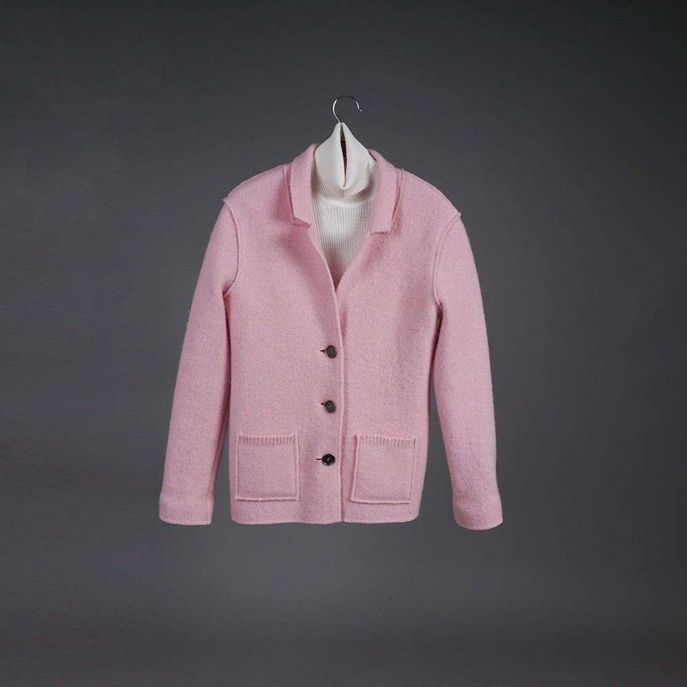 Polina pure wool light pink jacket