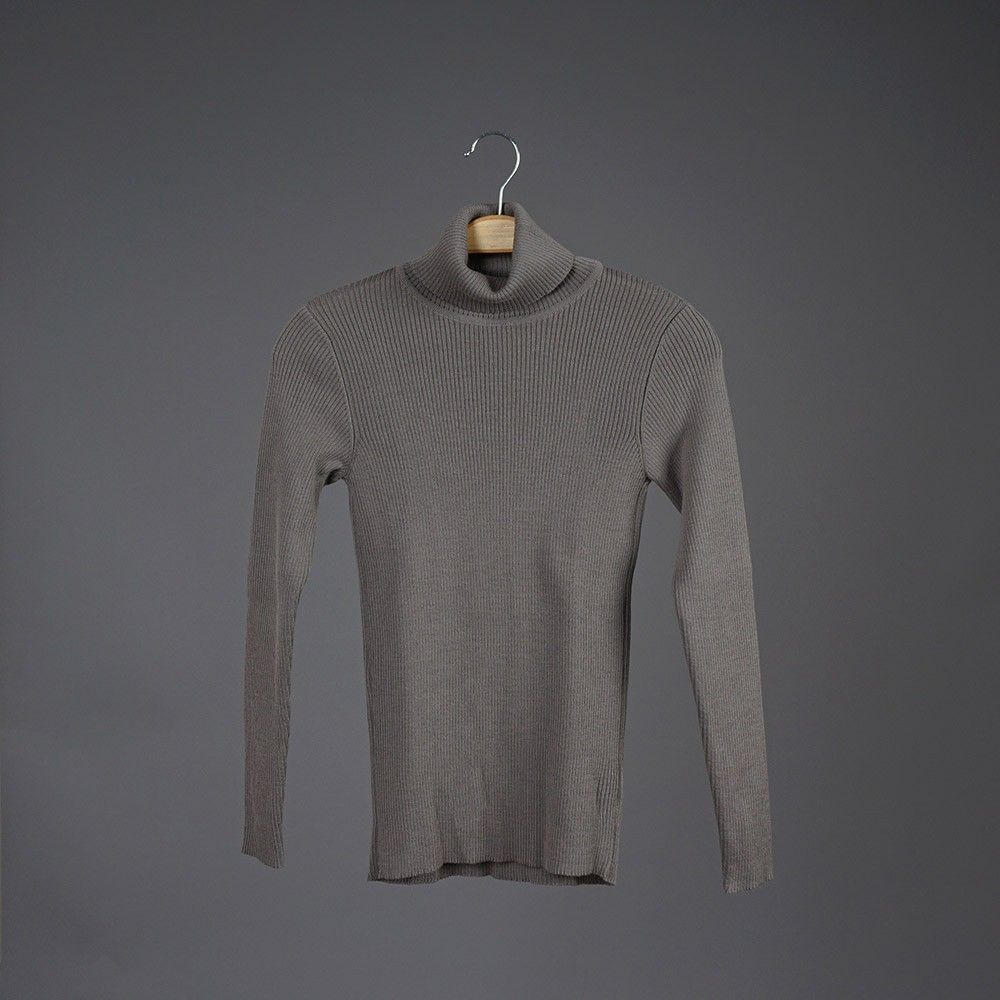 Balon high neck wool dark beige pullover