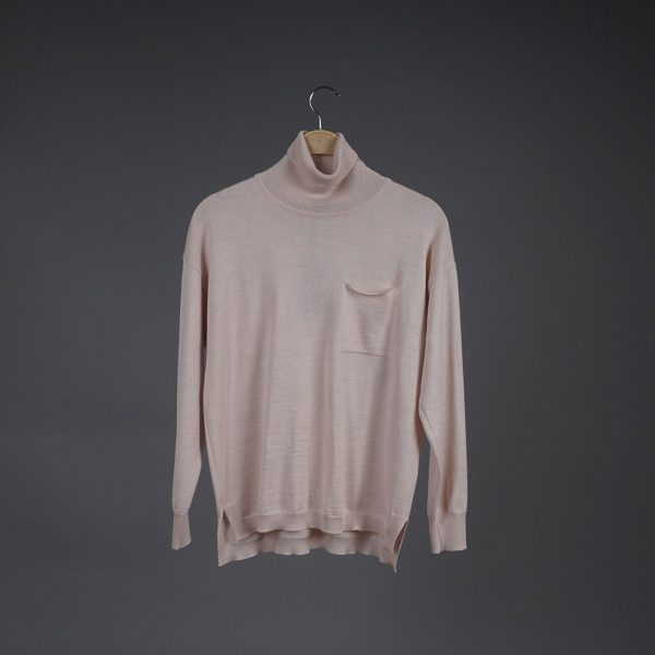 Lana high neck wool light pink pullover