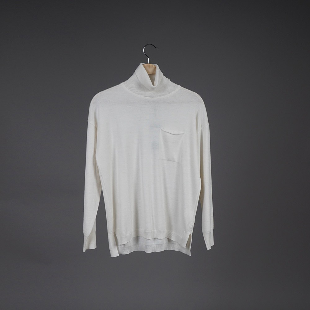 Lana high neck wool white pullover