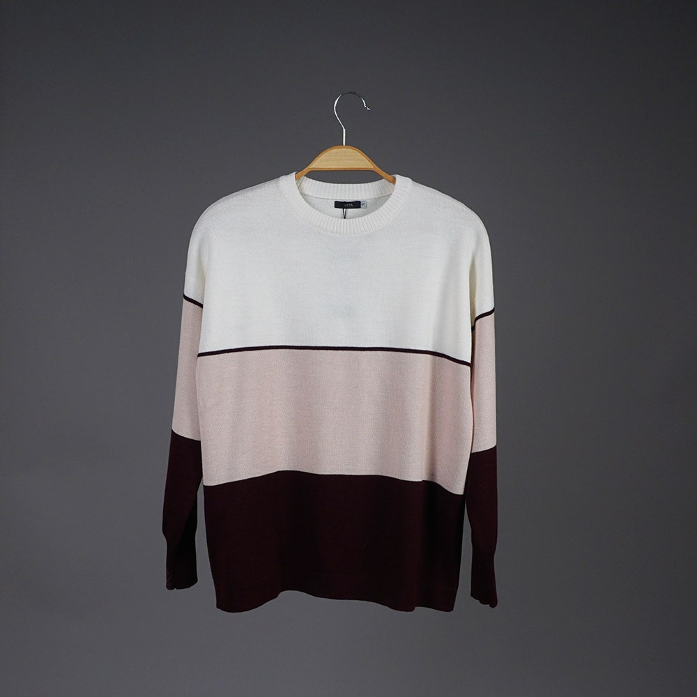 Ava wool burgundy-pink pullover