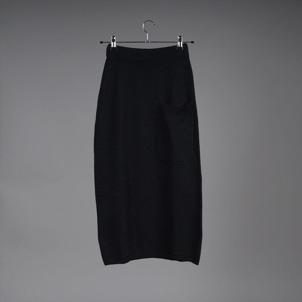 Dolores wool midi gray skirt