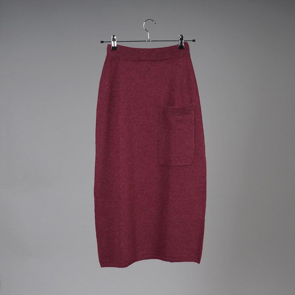 Dolores wool burgundy midi skirt