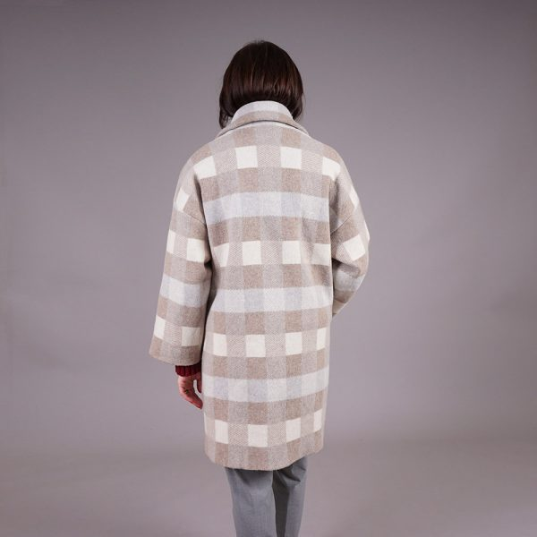 Elina wool blend checked coat