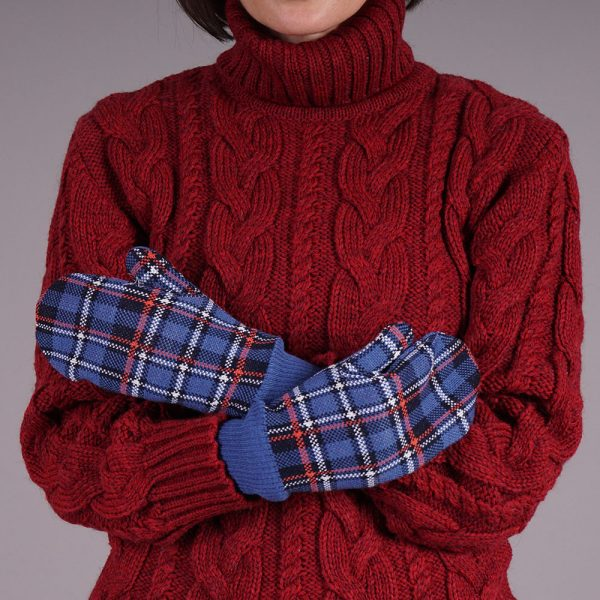 Ruut unisex wool mittens sinine
