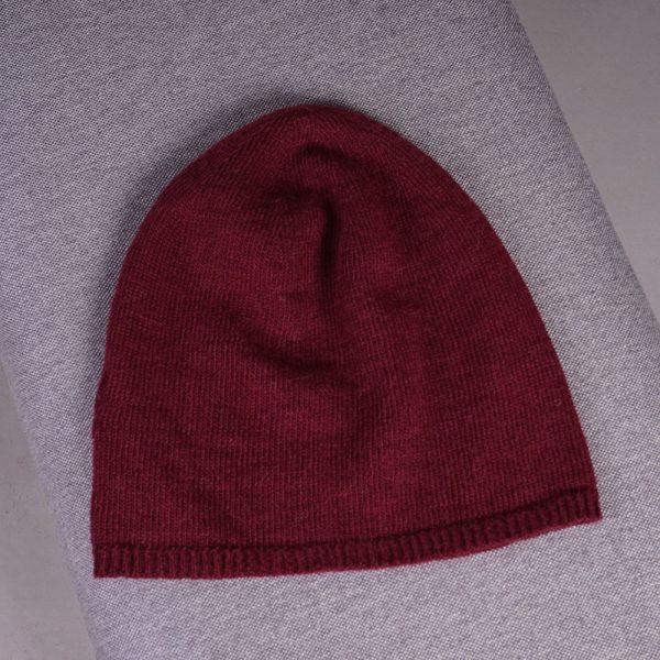 Stella merino wool knit beanie bordo