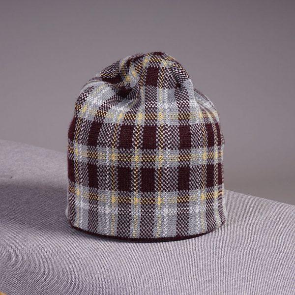 Ruut wool knit beanie bordo