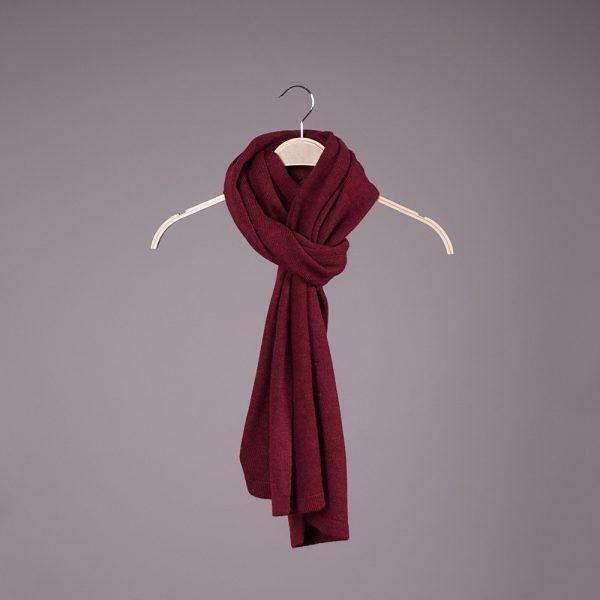 Stella large wool knit bordo scarf