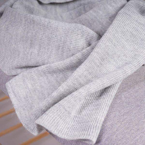 Stella large wool knit gray scarf
