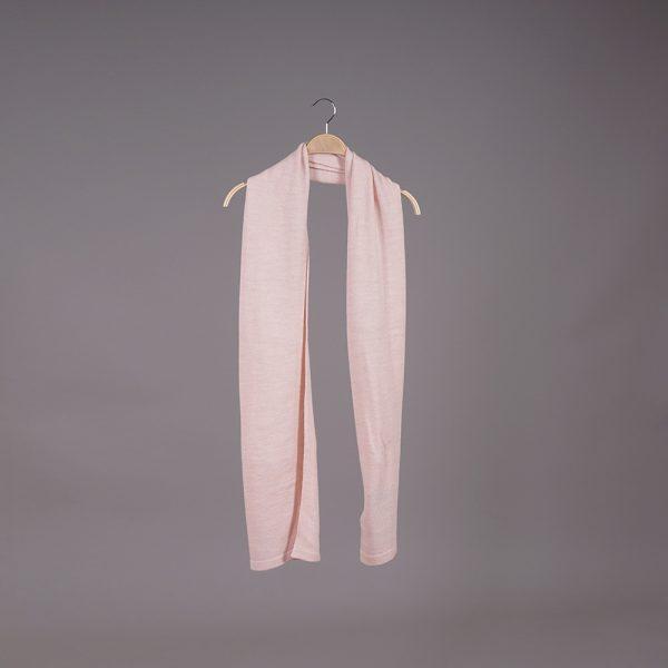Stella large wool knit light pink scarf