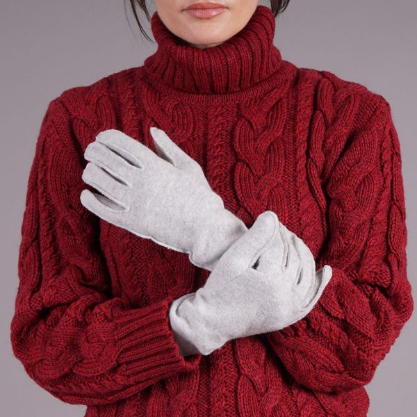 Adelina wool blend gray gloves