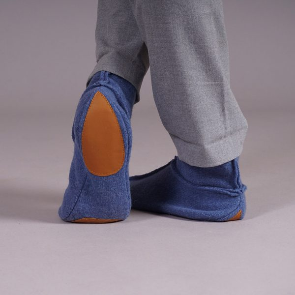 Adelina soft pure wool slippers blue