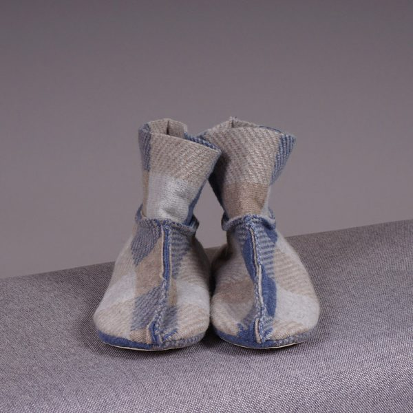 Adelina wool blend checked slippers
