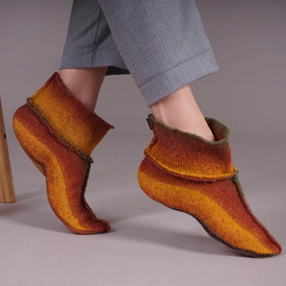 Adelina wool blend striped slippers