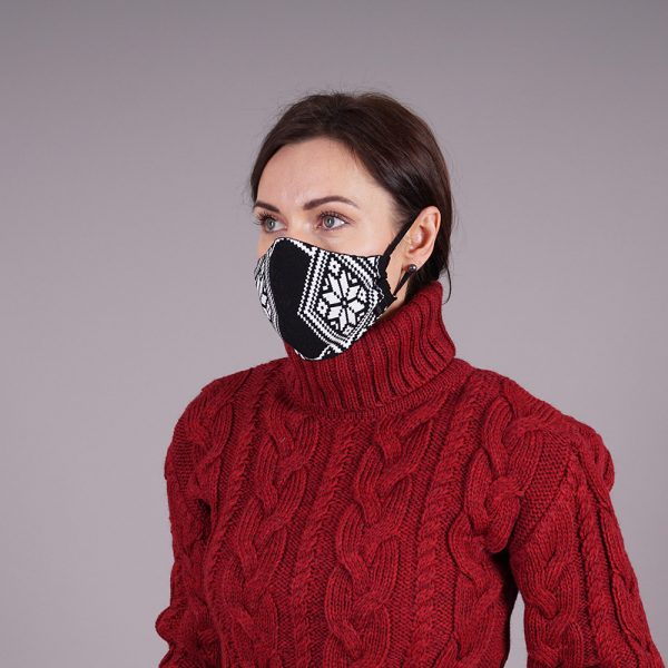 Nordstar black knitted reusable mask