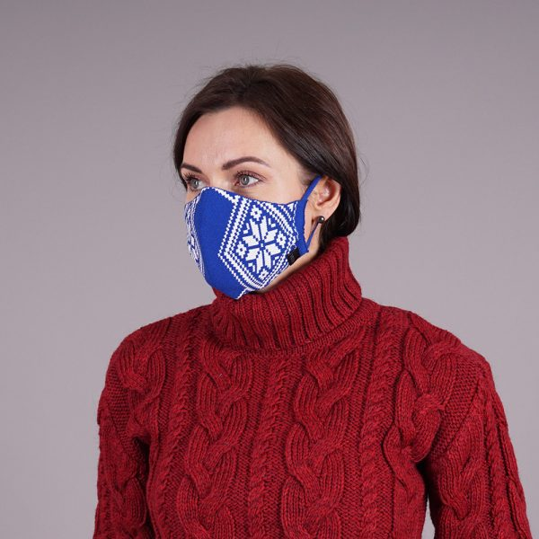 Nordstar blue knitted reusable mask