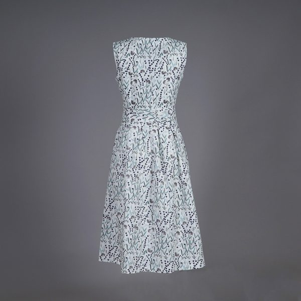 Juliette midi floral print linen dress