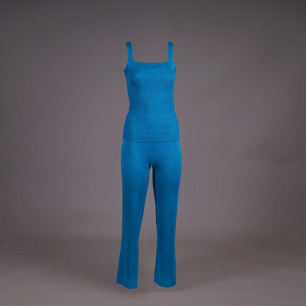 Asta трикотажные брюки цвета голубая лагуна