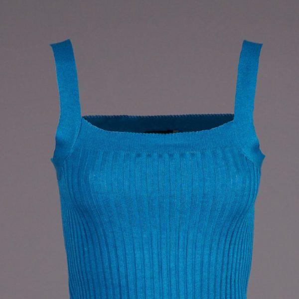 Liora вязаный топ без рукавов цвета голубая лагуна